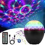 Luci da Palco Luci Discoteca con Altoparlante Bluetooth LED Luci Discoteca Pall Lampada da Discoteca con e USB Cavo, Canali RGBW 16 Colori Proiettore Luci per Natale, Halloween, Bar, Festa, Club