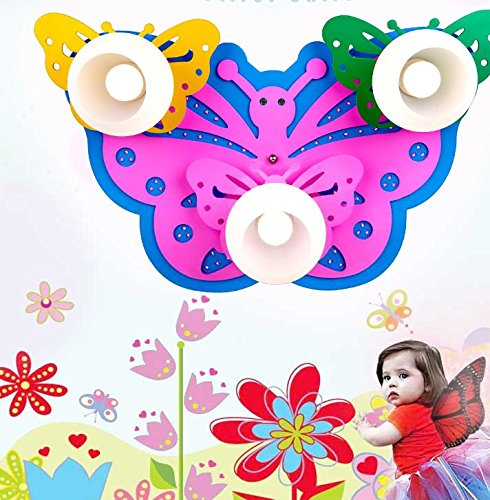 owow simple moderne salle pour enfants merveilleux et LED cool cartoon salle Butterfly plafonnier pour les garçons ou filles séjour Décoration plein d'imagination, 640 * 410 mm