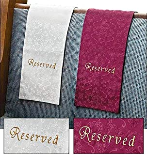 Embroidered Jacquard Reserve Pew Cloths Pack of 4 (White)
