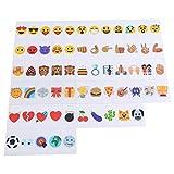 Ladieshow 85 Uds Emoji símbolos Signo glifos Tarjeta DIY para A4 tamaño LED Caja de luz cinematográfica decoración de Boda para Fiesta en casa