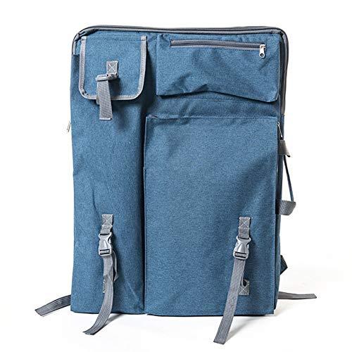 Staffelei Sitzstaffelei Rucksack Artboard Bag 4k Erwachsenen Tasche Kunst Skizze Tasche wasserdicht langlebig 66 * 50cm HUYP (Color : Blue)