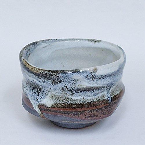 New Matcha bowl Karatsu black Oribe box of pottery Mino