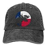 Gorra De Béisbol Unisex Bandera De Texas Moose Moon Sombrero De Sol Ajustable Hockey Béisbol Gorras Adulto Bent Peak Cap Classic Visera Sombrero