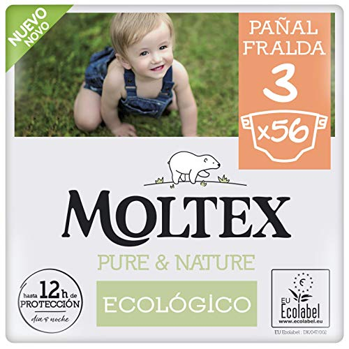 ?Pañales T3 (4-10 kg) Moltex Pure & Nature 56 Uds