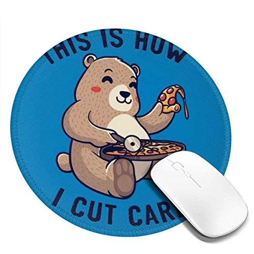Yuanmeiju This is How I Cut My Carbs Customized Designs Non Slip Rubber Base Gaming Mouse Pads for Mac,7.9x7.9 in Pc, Computers. Ideal for Working Or Game
