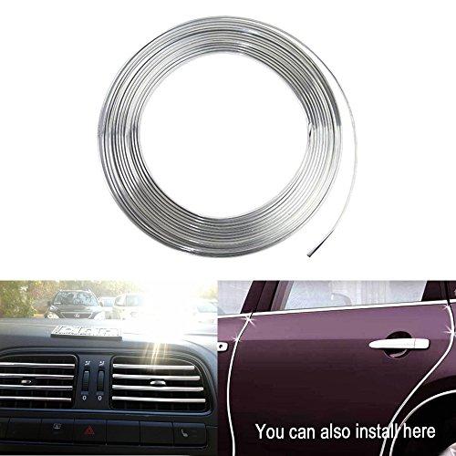 13 Feet YIJINSHENG Car Door Edge Guard 13ft U Shape Edge Trim Rubber Seal Protector Car Protection Door PVC Plastic Edge Fit for Most Cars