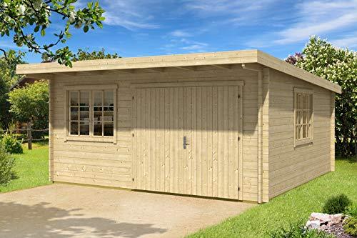 CARLSSON Alpholz Gartenhaus Storehouse 44-C aus Massiv-Holz | Gerätehaus mit 44 mm Wandstärke | Garten Holzhaus inklusive Montagematerial | Geräteschuppen Größe: 508 x 528 cm | Pultdach