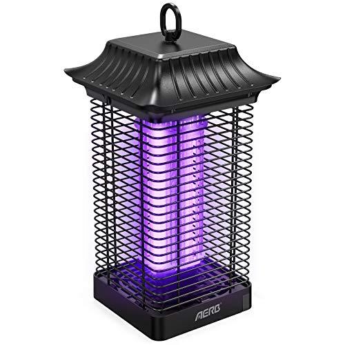 Aerb Lampe Anti Moustique,4000V Moustique Tueur Lampe est Étanche,18W UV Tueur d'Insectes Électrique Anti Insectes Répulsif ,Efficace Portée 85m² pour Intérieur et Extérieur