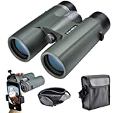 Starboosa 10x42 Binoculars for Adults with Smartphone Holder - Waterproof Binocular with Durable and Clear BAK4 Prism for Bird Watching Wildlife Hunting Camping Hiking