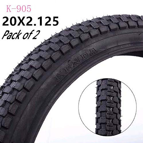 RZiioo 20 X 2.125Bicycle Tyres,Suitable for BMX/Mountain Bike (Pack of 2)