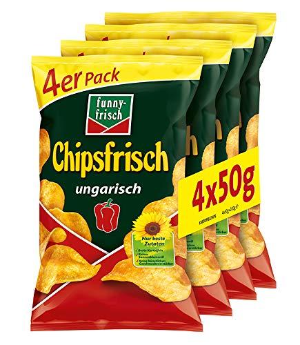funny-frisch Chipsfrisch ungarisch Multipack, 5er Pack (5 x 4 x 50 g)