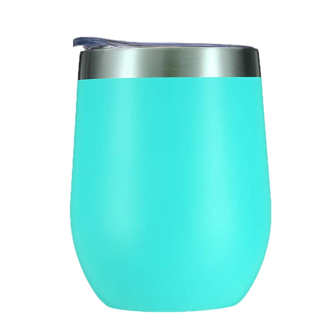 Voraca 12 oz Stainless Steel Wine Glass Tumbler with Lid, Double Wall Vacuum Insulated  Travel Cup for Coffee, Cocktails, Ice Cream Green arue521108764339