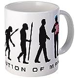 CafePress - Evolution Of Man Accordion Player Mugs - Unique Coffee Mug, Coffee Cup