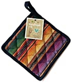 Cork & Leaf Handmade Colorful Thick Cotton Potholders Loops for Hanging- Heat Resistant Hot Oven Pads/Coaster...