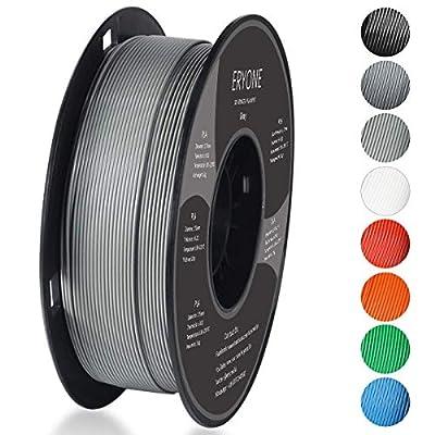 PLA Filament 1.75mm, ERYONE Filament PLA 1.75mm, 3D Printing Filament PLA for 3D printer, 1kg 1 Spool, Gray