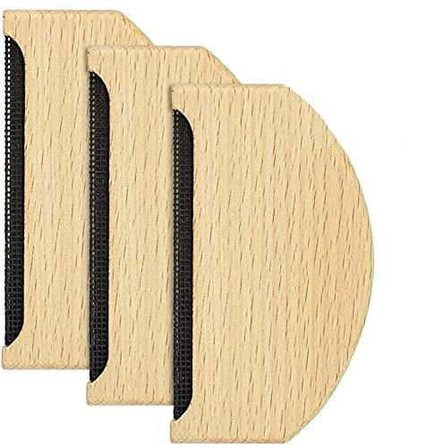 GOLRISEN 3 PCS Peigne Cachemire en Bois Peigne à Laine Anti-Bouloches Peigne à Pull en Hêtre Peigne Pull Cachemire Peigne pour Vêtement à Peluche, Tissu Cachemire et Tricot (Jaune)