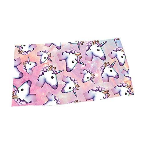 Giddah Cute Mode kawaii multicolor rayas Unicornio caliente venta Agua absorbente microfibra baño toalla de playa secado rápido 70* 140cm, rosa, 70 x 140 cm