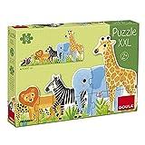 Goula, Puzzle XXL decreciente Selva, Puzzle de carton de piezas grandes para niños a partir de 2 años