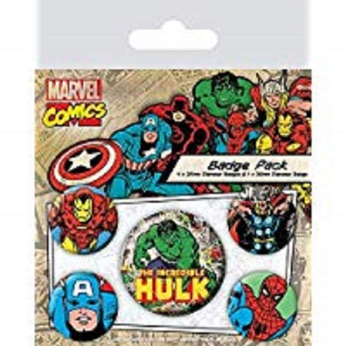 Pyramid International Écusson Marvel Retro Hulk Multicolore 10 x 12,5 x 1,3 cm