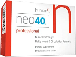 Neo40 Professional - Nitric Oxide Booster with Methylfolate - Natural Blood Pressure Supplement - May Help Support Healthy Blood Pressure, Circulation and Cardiovascular Health - 60 Tablets