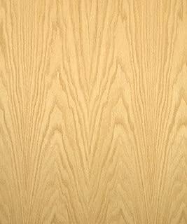 Red Oak Wood Veneer, Flat Cut, Premium Grade, 24