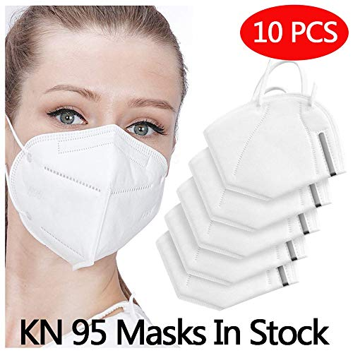 Anticontaminación N95 Mask,  AUSDIN N95,  FFP2 Anticontaminación Mask Dust- Proof and Anti Smoke Mask 98% filtration effect,  Unisex,  for Outdoor Construction,  Paint,  Gardening,  DIY,  Home pack 10