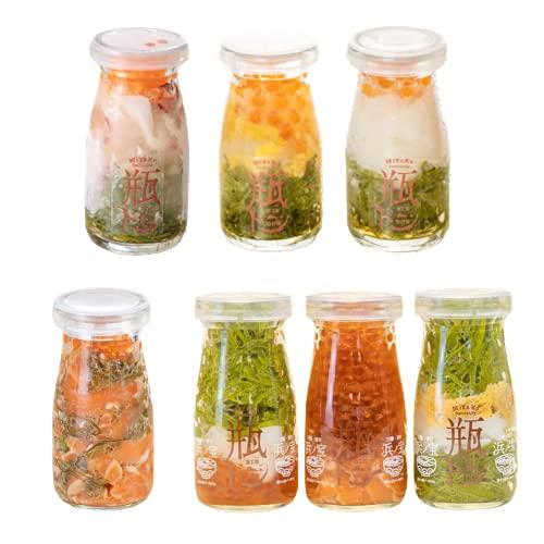 瓶ドン7種類セット (ウニイクラ・タコ・イカ・トラウトサーモン・紅葉漬・海鮮ミルフィーユ・焼うにミルフィーユ)小瓶タイプ 冷凍 海鮮丼