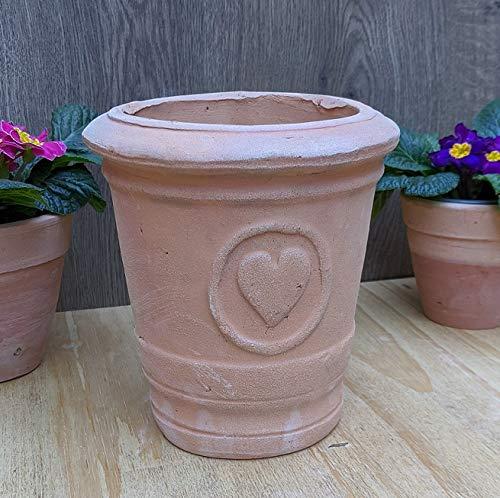 Blumentopf echt Terrakotta ca. 18 cm , Blumenkübel für Garten und Wohnung Terracotta ........... kein Kunststoff, Blumen Pflanzgefäß