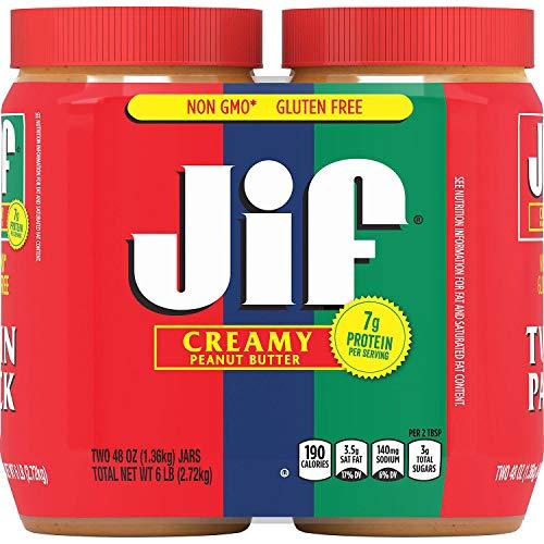 Jif Creamy Peanut Butter (48 oz., 2 pk.) ES