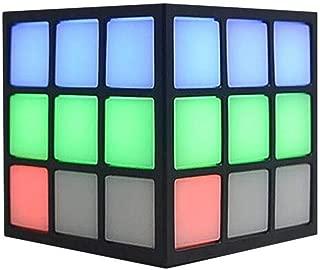 AYOPV Rubik's Cube Shape Wireless Bluetooth Speaker Colorful Flashlight Portable Personalized Mini Card Insert Small Speaker