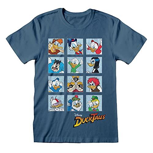 Mens Disney T Shirt DuckTales Character Squares Tee