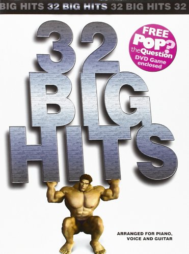 32 Big Hits Arranged For Piano, Voice And Guitar (Book, plus POP Game Question DVD): Songbook, DVD (Video) für Klavier, Gesang, Gitarre (Pvg)