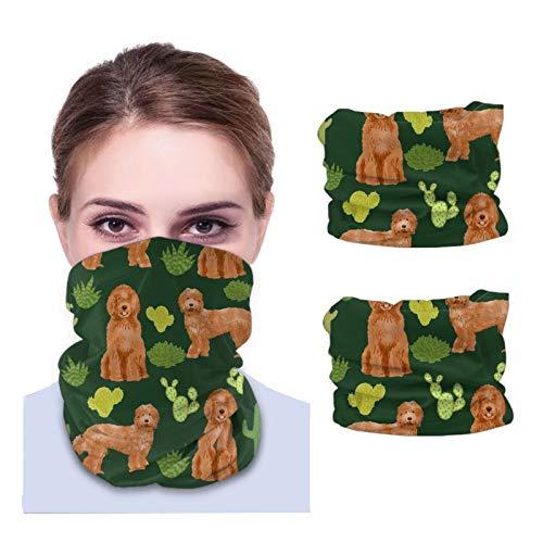 Nother Labradoodle – diseño de perro de albaricoque – verde oscuro unisex de microfibra transpirable moda bandanas pañuelo para la cabeza