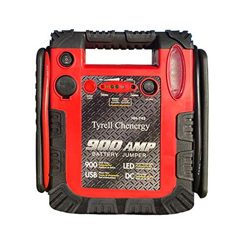 Great Features Of Tyrell Chenergy 900 Peak Amp Car Jump Starter Power Station with Two USB Ports