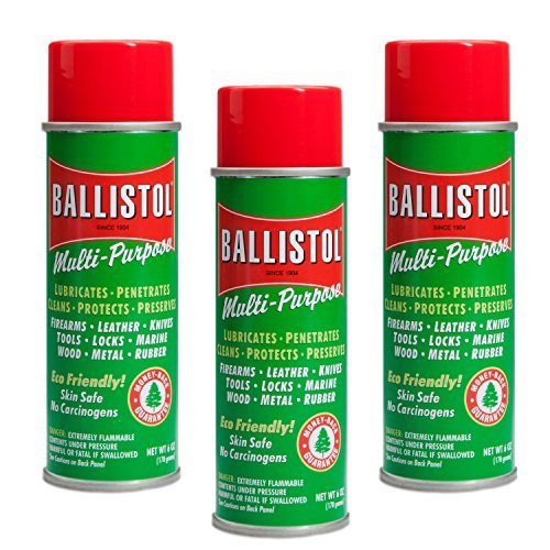 Ballistol Multi-Purpose Non-CFC Aerosol Can Lubricant Cleaner Protectant 6 oz can, 3 Pack
