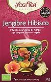 Yogi Tea Bio Jengibre Hibisco, 17 bolsitas - 6 unidades