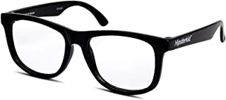 Hipsterkid Baby Opticals - Glasses w/Strap - Kids/Girl/Boy - Break It or Lose It Warranty (Black/Clear UV)(Ages 0-2)