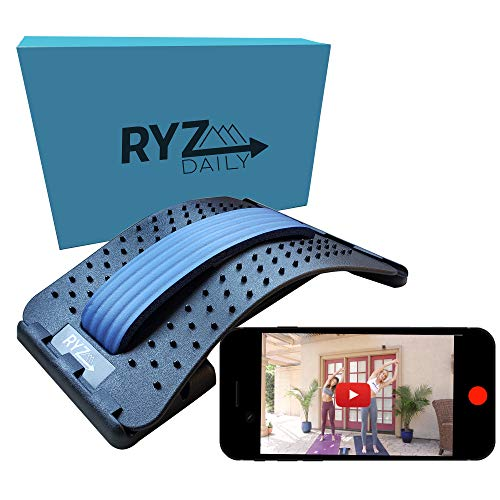 RYZdaily Back Stretcher with Instructional Videos, Lower Back Stretcher, Lumbar Back Stretcher for...