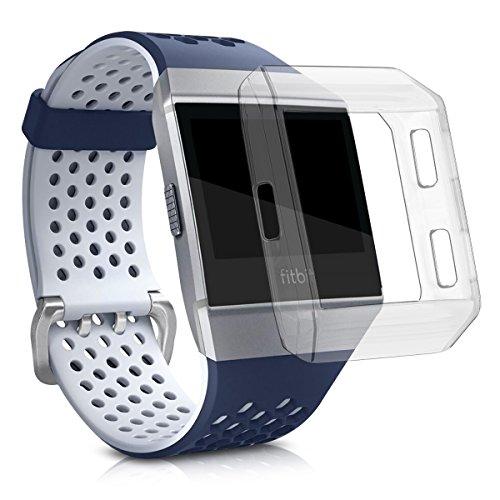 kwmobile Sport Schutzhülle kompatibel mit Fitbit Ionic - Silikon Hülle klar ohne Tracker Transparent