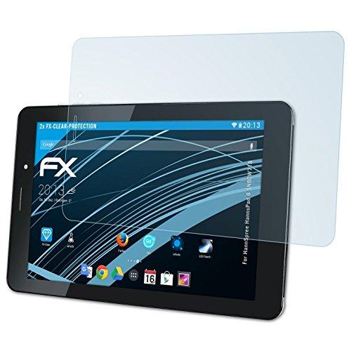atFolix Schutzfolie kompatibel mit HannSpree HannsPad 8 SN80W71B Folie, ultraklare FX Bildschirmschutzfolie (2X)