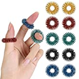 Mr. Pen- Spiky Sensory Rings, 10 Pack, Stress Relief Fidget Sensory Toys, Fidget Rings, Fidget Ring for Anxiety, Stress Relief Rings, Massager for Fidget ADHD Autism, Silent Stress Reducer Ring