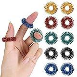 Mr. Pen- Spiky Sensory Rings, 10 Pack, Stress Relief Fidget Sensory Toys, Finger Fidget, Fidget Ring for Anxiety, Stress Relief Rings, Massager for Fidget ADHD Autism, Silent Stress Reducer Ring