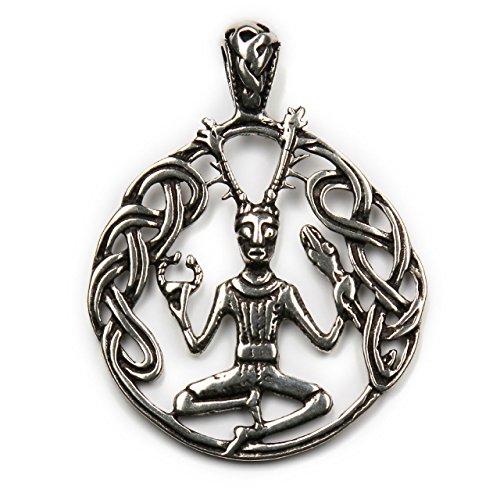 Gott der Wälder keltischer Schmuck Cernunnos 925 Silber Anhänger Länge mit Öse: 4,5cm