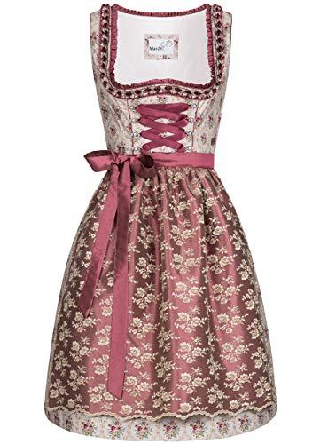 MarJo Trachten Damen Trachten-Mode Midi Dirndl Forenda in Beige traditionell, Größe:38, Farbe:Beige