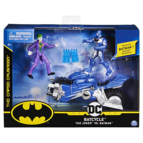 Bizak - DC Comics Batman Batmoto mit 2 Figuren 10 cm Bat Tech, Mehrfarbig (61927830)