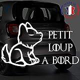 Sticker bébé à bord pour voiture Petit Loup à bord 20 cm Blanc - Anakiss