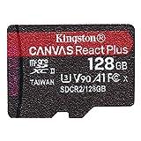 キングストン microSD 128GB 最大285MB/s UHS-II U3 V90 A1 カードリーダー&アダプタ付属 Canvas React Plus MLPMR2/128GB 永久保証