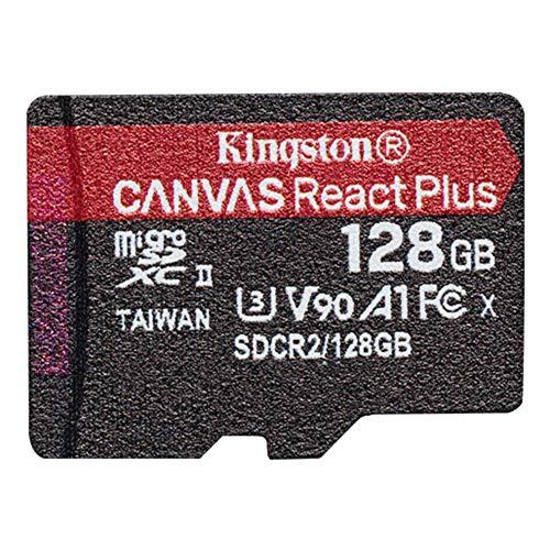 キングストン microSD 128GB 最大285MB/s UHS-II U3 V90 A1 カードリーダー&アダプタ付属 Canvas React Plus MLPMR2/128GB