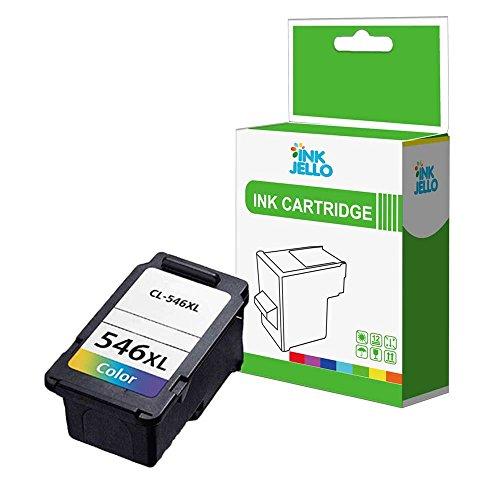 inkjello wiederaufbereitete Tintenpatrone Ersatz für Canon Pixma IP2850mg2400MG2455MG2500MG2550mg2550s MG2555mg2555s mg2900MG2950mg2950s mg3050mg3051mg3052TS3151CL-546X L (dreifarbig)
