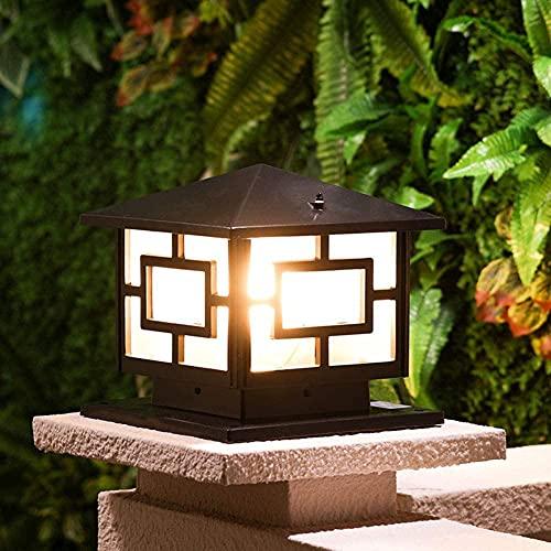 Tletiy American Square Retro Pillar Light Lampioni da Giardino per Esterni E27 Applique da Esterno Impermeabili A Rete Elettrica Cancello Giardino Esterni Lampada Colonna Lampada Piedistallo